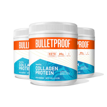 Image: Bulletproof Vanilla Flavored Collagen Protein - 3 Pack