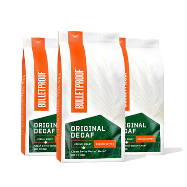 Image: Bulletproof The Original Medium Roast Decaf Ground Coffee - 3 Pack
