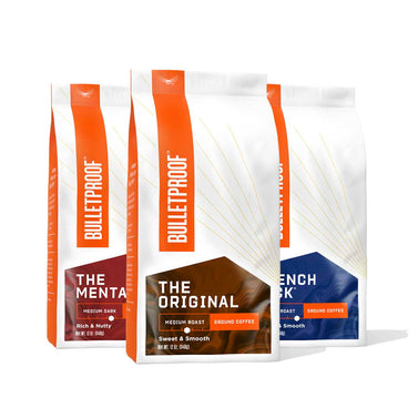 Image: Bulletproof Variety Pack Ground Coffee - 3 Pack