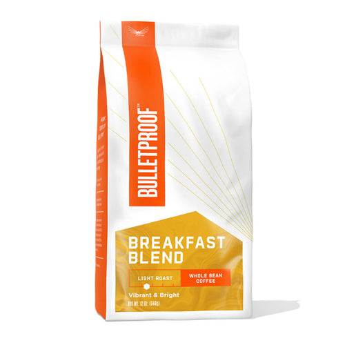 Bulletproof Breakfast Blend Light Roast Whole Bean Coffee - 12 oz