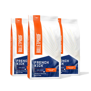 Image: Bulletproof French Kick Dark Roast Whole Bean Coffee - 3 Pack