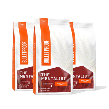 Image: Bulletproof The Mentalist Medium Dark Roast Whole Bean Coffee - 3 Pack