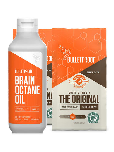 Image: Starter Set - Brain Octane Oil & 2 Bags of Whole Bean Coffee
