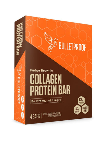 Image: Fudge Brownie Collagen Protein Bar (4 Pack)