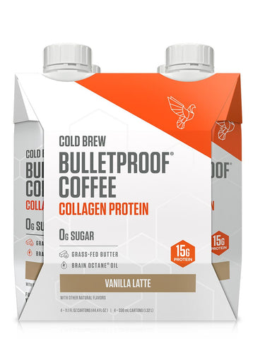 Image: Vanilla Latte Cold Brew with Collagen Protein - 4ct