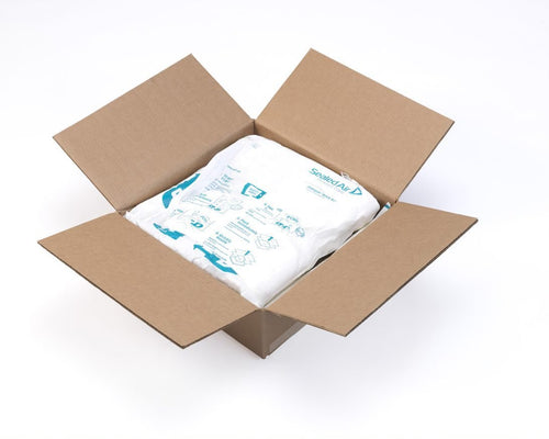 contained foam packaging material