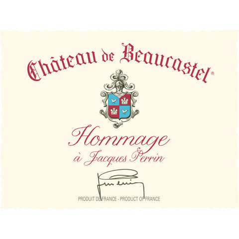 Beaucastel CNDP Hommage a Jacques Perrin 2013 - case 3 (in bond)