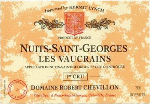 Robert Chevillon N S G 1er Cru Vaucrains 2017 - case of 3