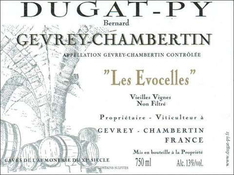 Dugat-Py Gevrey Chambertin Les Evocelles 2001 (scuffed label)