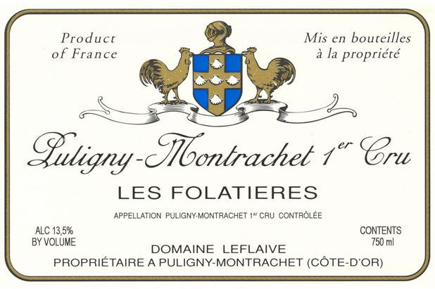 Leflaive Dom. Puligny Montrachet 1er Cru Folatieres 2015 - case of 6