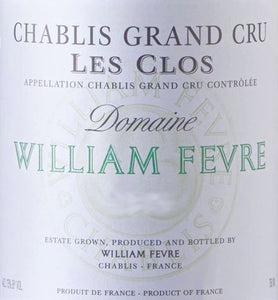 William Fevre Chablis Grand Cru Les Clos 2016 - case of 6