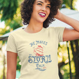 """He Calms The Storm"" Unisex Faith Tee - Aligned Blessings.com"