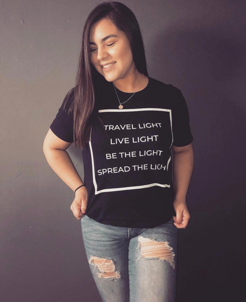 """Spread The Light"" Unisex T-Shirt - Aligned Blessings.com"
