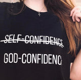"""God-Confidence"" Unisex Tee - Aligned Blessings.com"