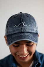 "Vintage ""Sea Wave"" Cotton Cap - Aligned Blessings, LLC"