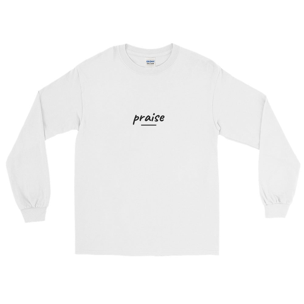 """Praise"" Long Sleeve Tee - Aligned Blessings.com"