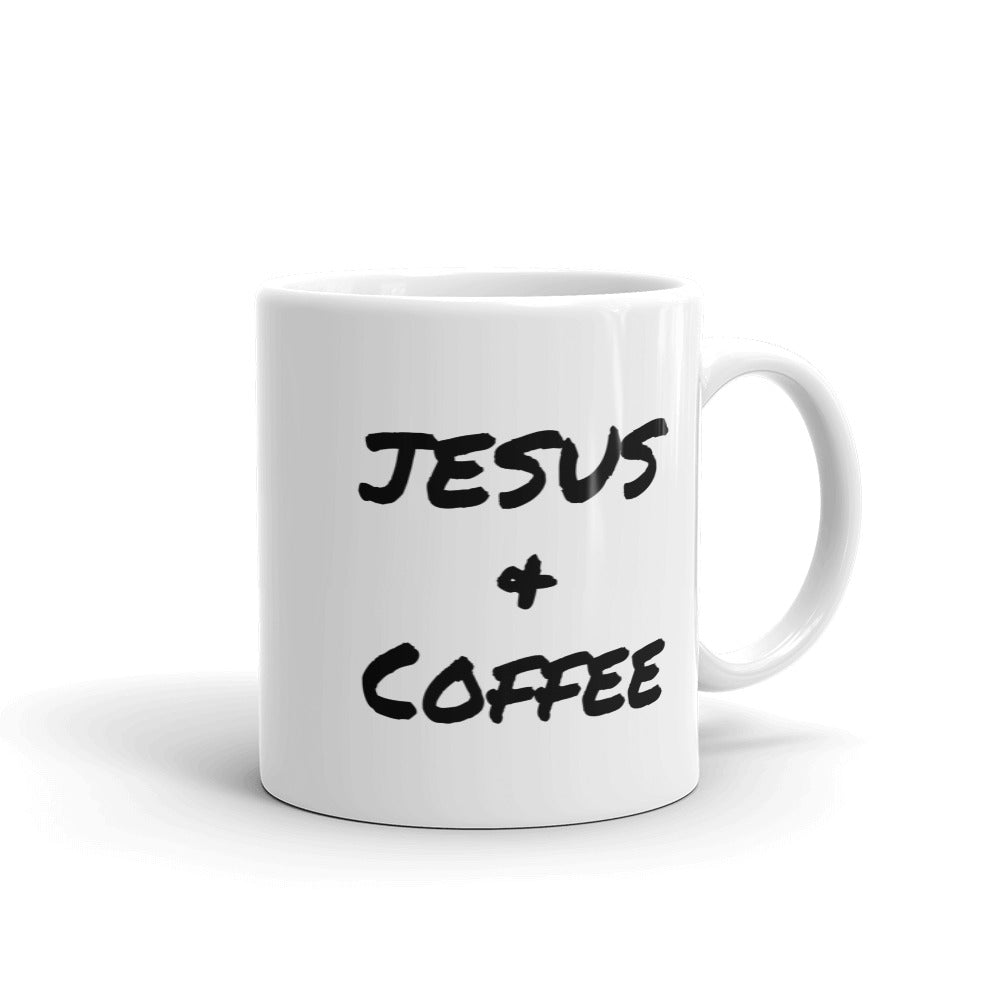 """Jesus & Coffee"" Mug - Aligned Blessings.com"