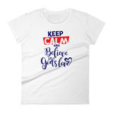 """Keep Calm"" Women's Classic Tee - Aligned Blessings.com"