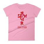 """Jesus Is Risen"" Women's Fashion Fit Tee"