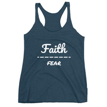 "Load image into Gallery viewer, ""Faith Over Fear"" Women's Racerback Tank"
