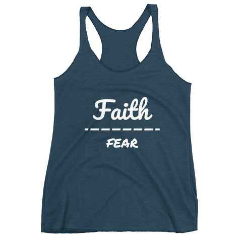 """Faith Over Fear"" Women's Racerback Tank - Aligned Blessings.com"