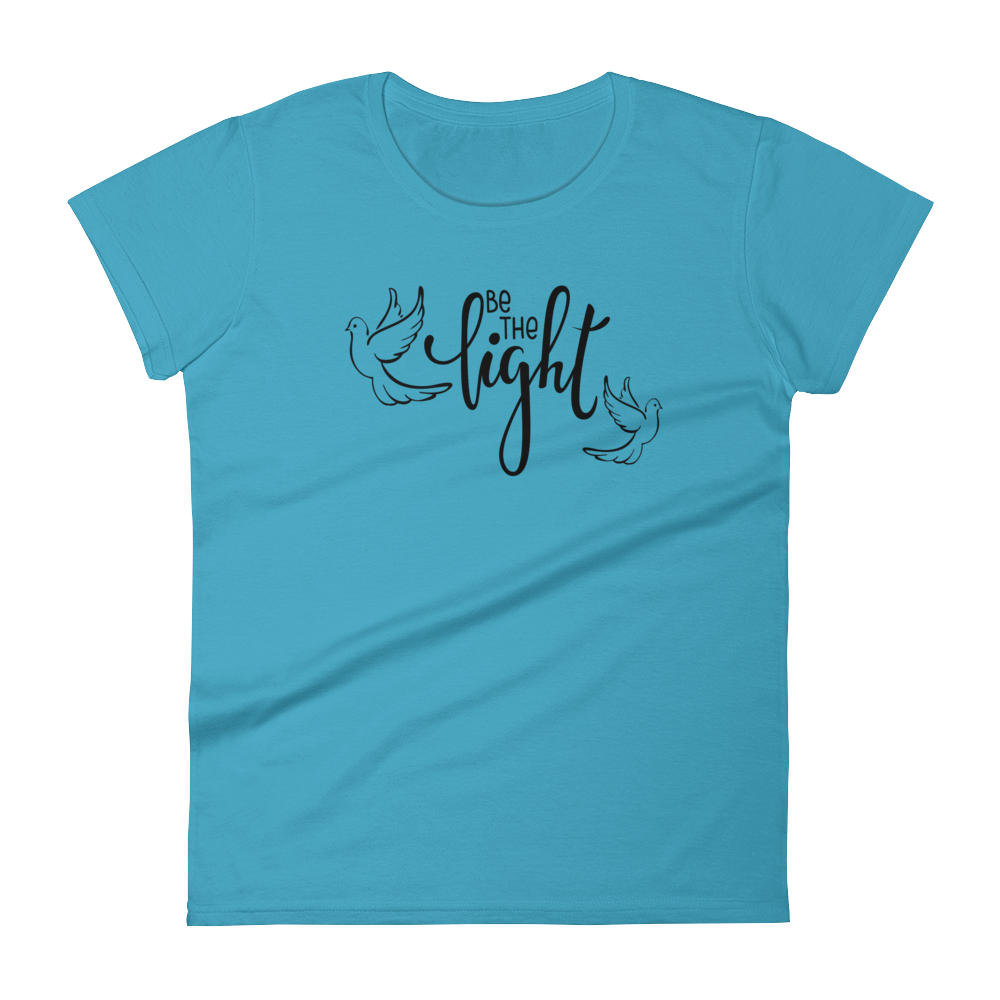 """Be The Light"" Women's Jersey Knit - Aligned Blessings.com"