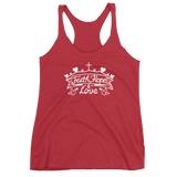 """Faith - Hope - Love"" Racerback Tank - Aligned Blessings.com"