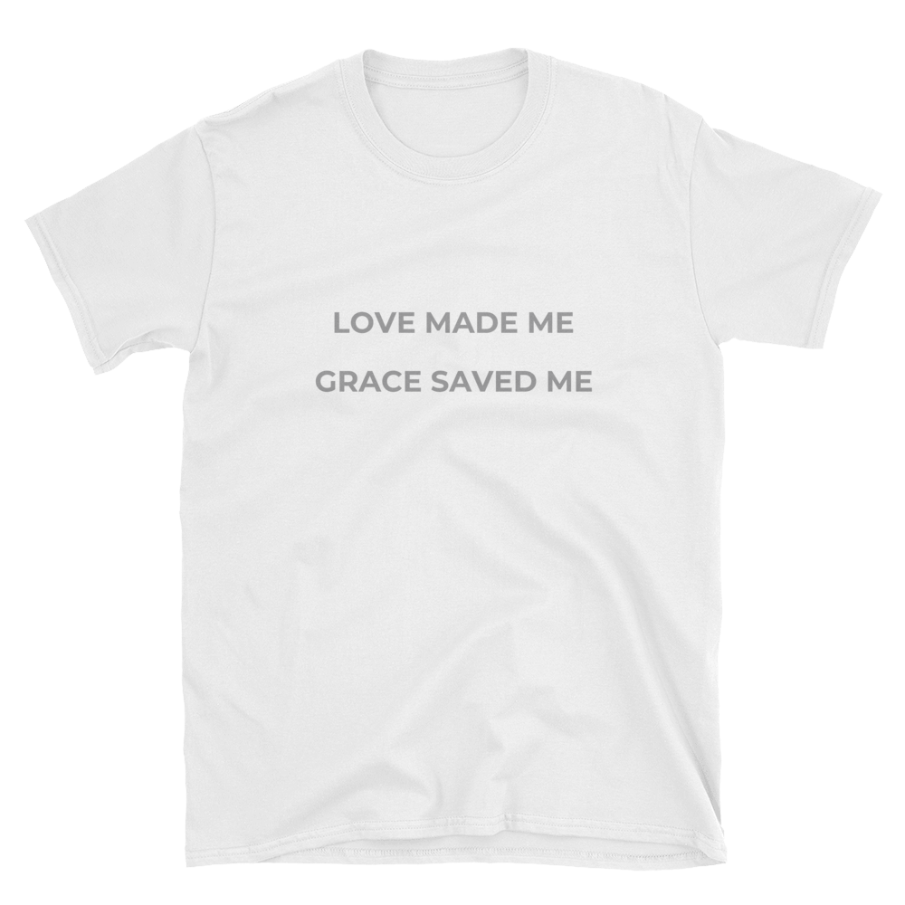 """LOVE MADE"" Softstyle Tee - Aligned Blessings, LLC"