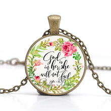 "Load image into Gallery viewer, Vintage Style ""Glass Verse"" Pendant"