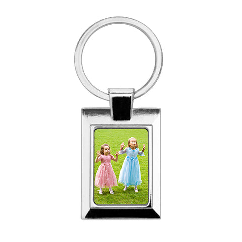 Rectangle Metal Photo Keyring (V1)