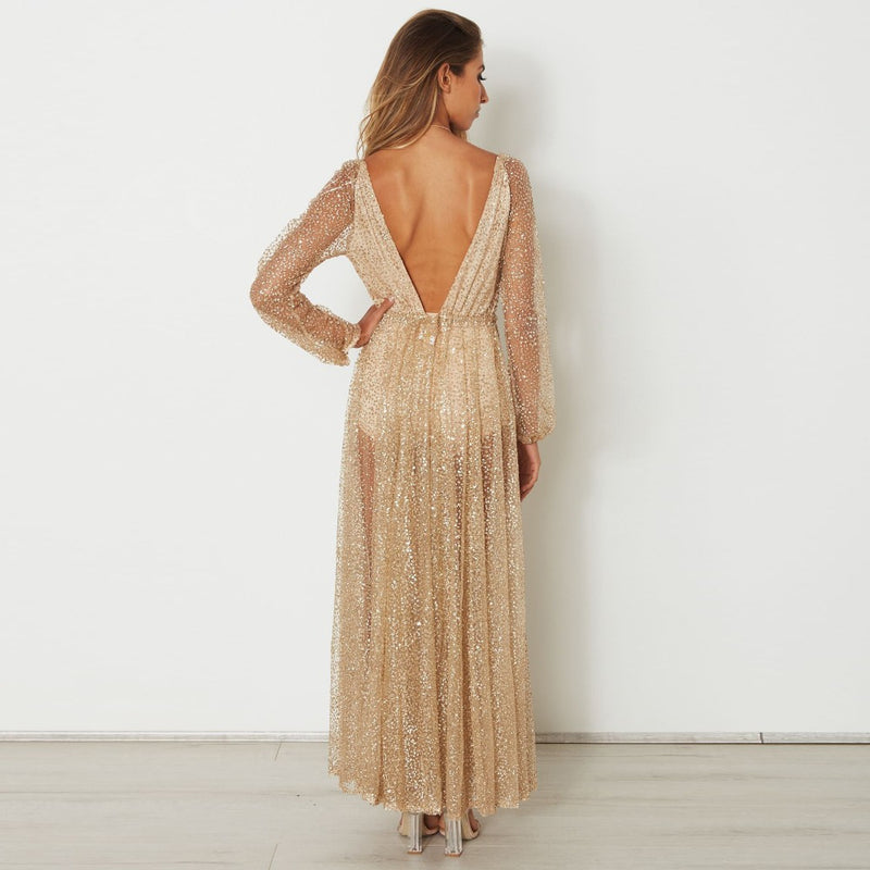 Gold Dust Woman Maxi Dress - About Last Night