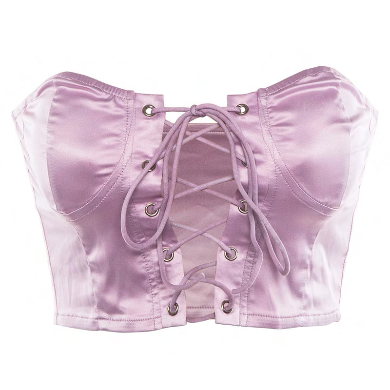 Shine On Corset Tie Crop - About Last Night