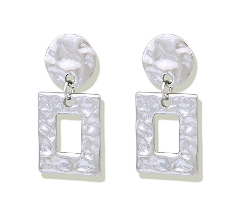 Simple Square Drop Earrings - About Last Night