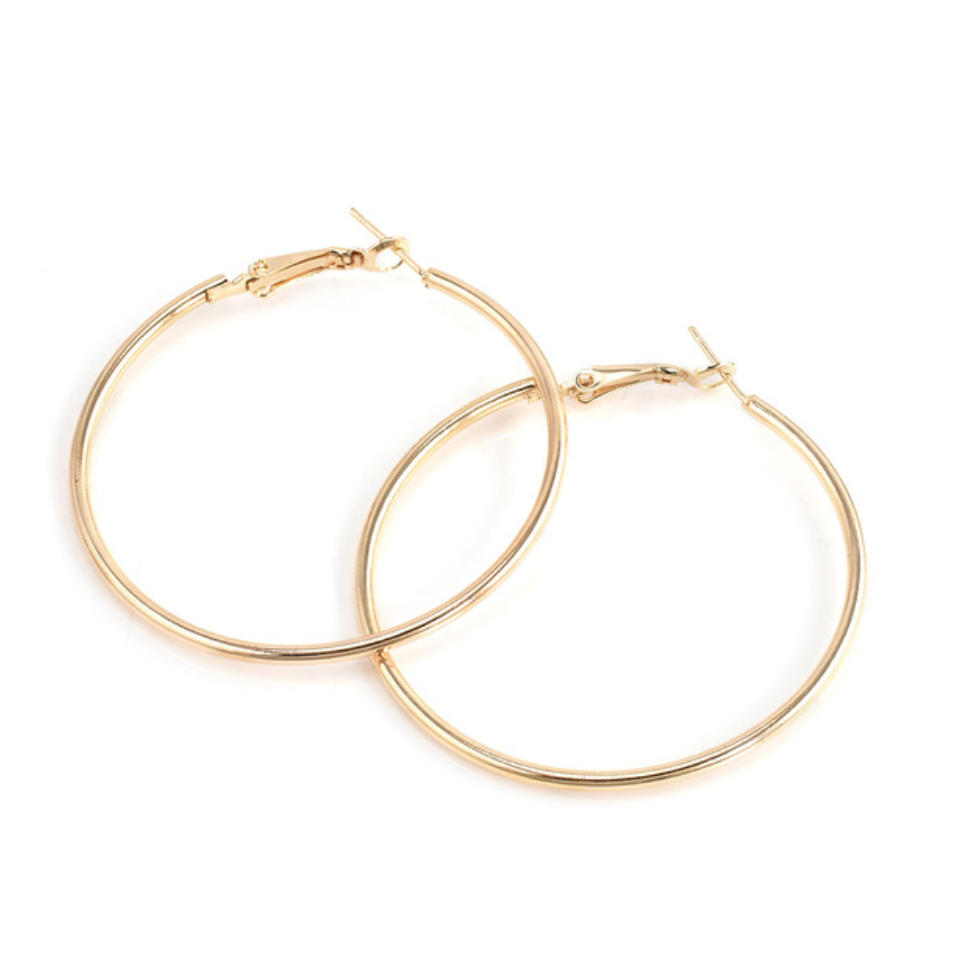 Gold Thick Hoops - About Last Night