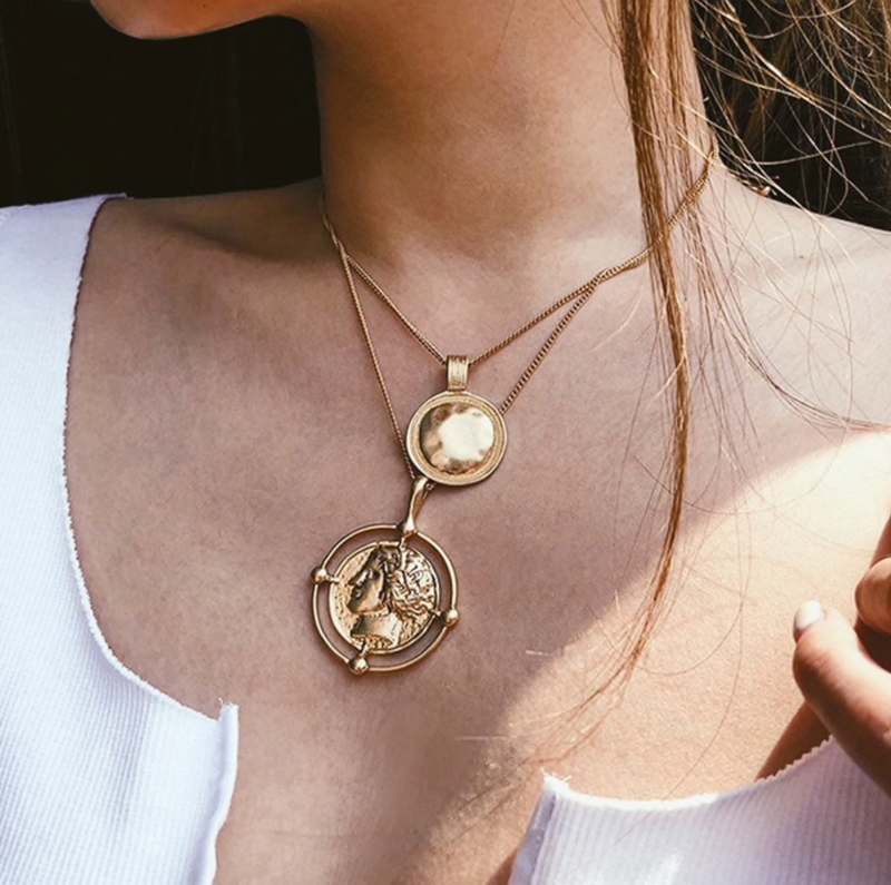 Rich Girl Coin Layer Necklace