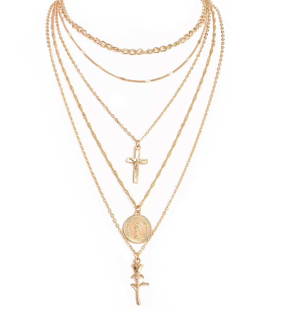 Cross It Coin Multi Necklace - About Last Night