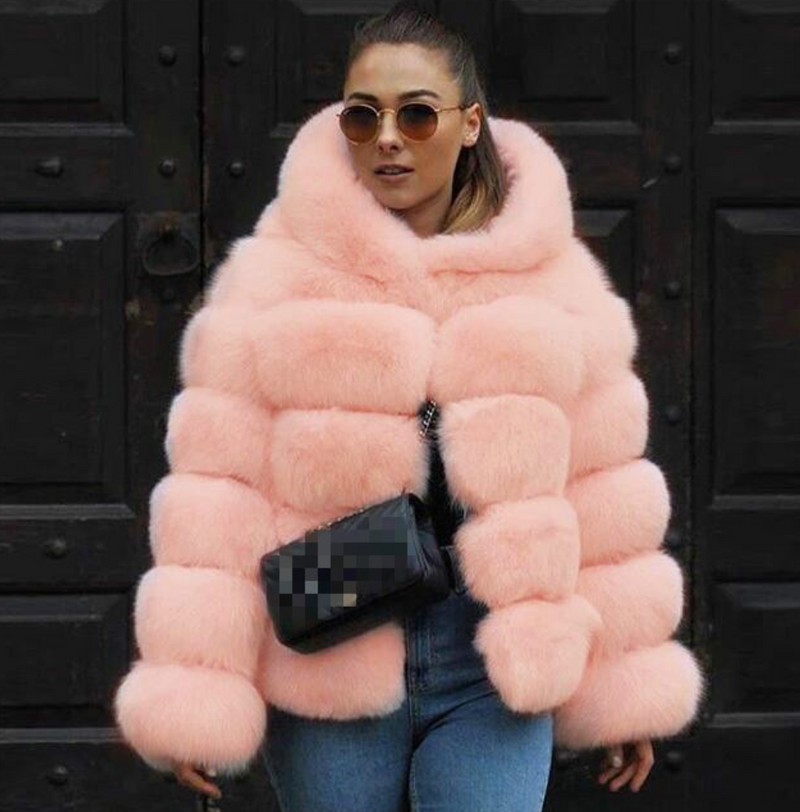 Early Winter Faux Fur Hooded Jacket - About Last Night