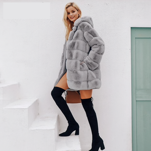 Early Winter Midi Faux Fur Coat - About Last Night