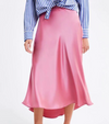 Neon Lights Slip Midi Skirt