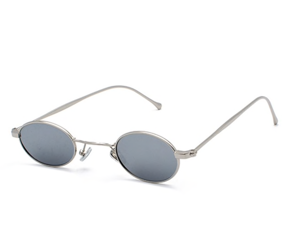 House Of Mirrors Round Skinny Sunglasses - About Last Night