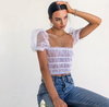 Sheer Vibes Bodysuit Top