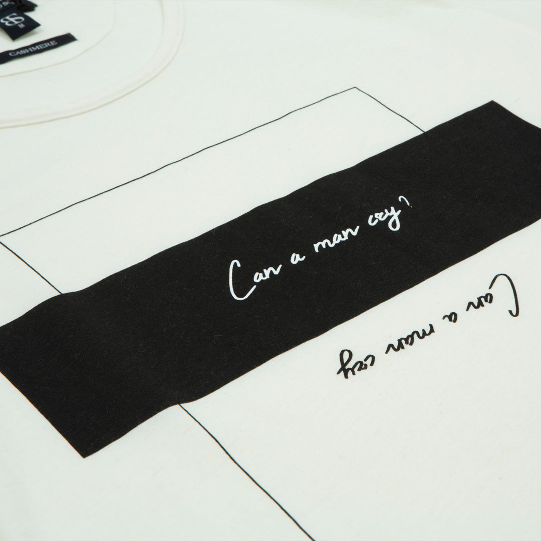 "Camiseta cashmere ""Can a man cry"" - Blinded Soul"