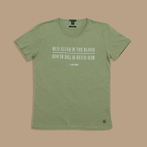 "Camiseta mujer cashmere ""Mud slush in the blood"" - Blinded Soul"