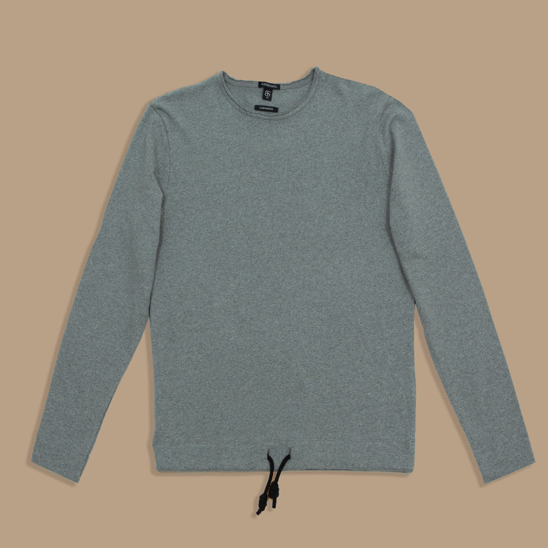 Jersey gris de cashmere mujer - Blinded Soul