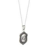 'Our Lady' Sterling Silver Connemara Marble Medal Pendant