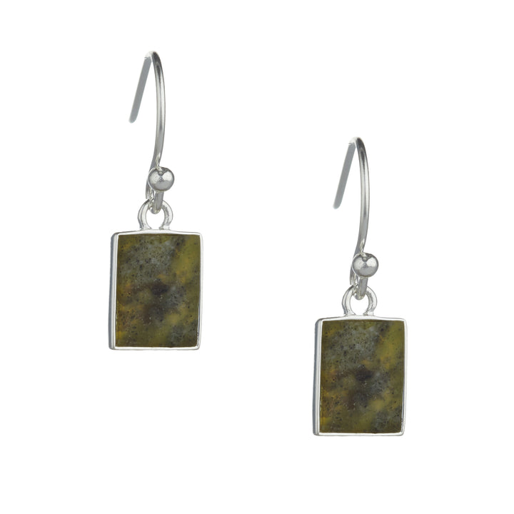 Fairy Tree Earrings Silver Connemara marble
