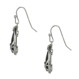 Claddagh Sterling Silver Connemara Marble Earrings