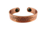 Celtic Copper Bangle with rotating Connemara Marble beads