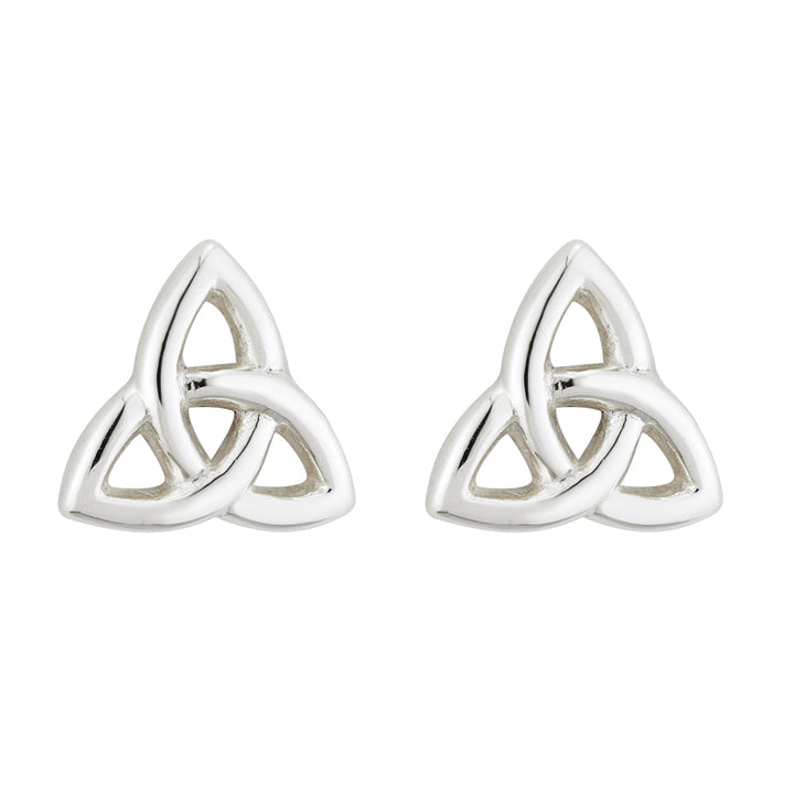 Trinity Knot Earrings Tiny Studs Sterling Silver