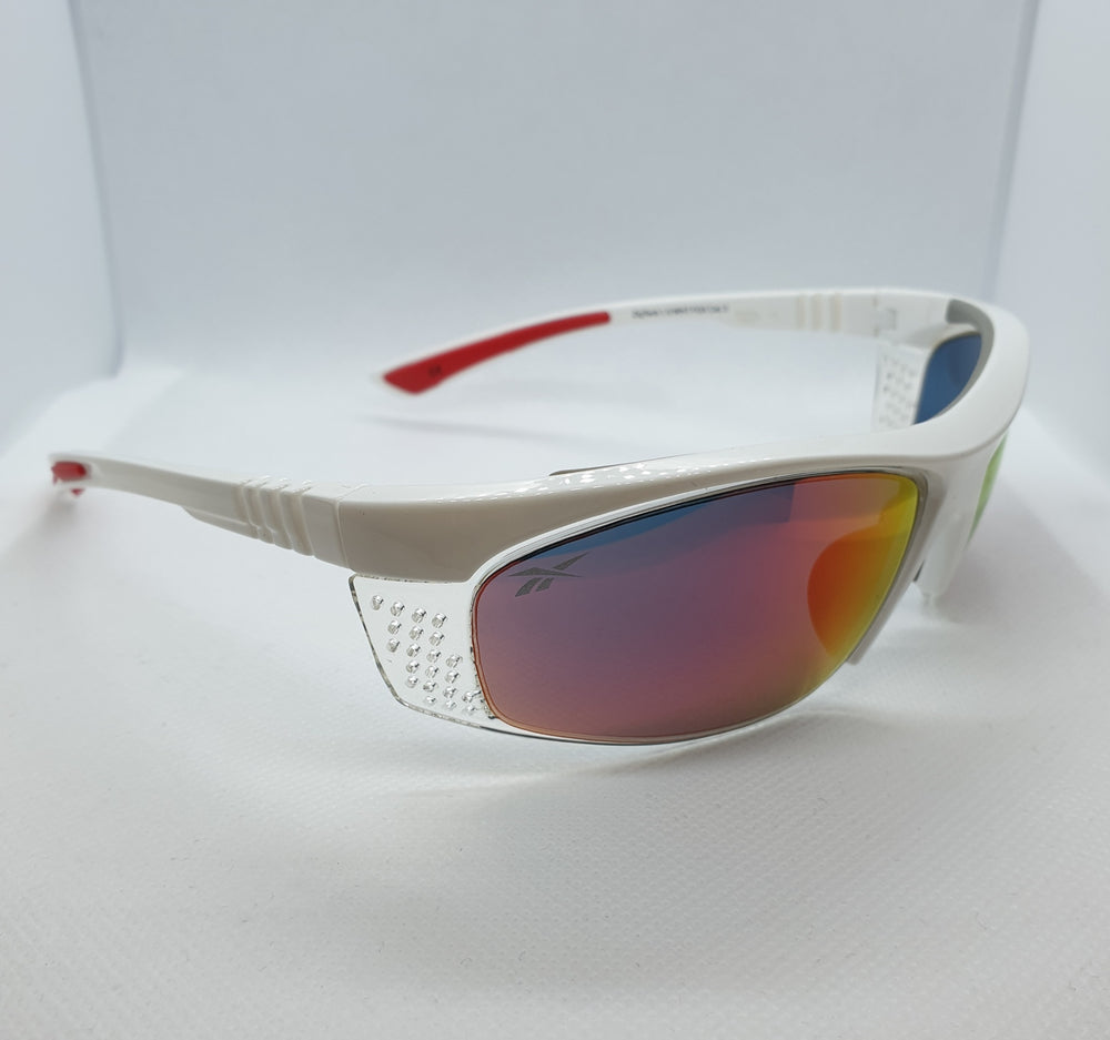 Reebok Sports Style White Orange Lenses